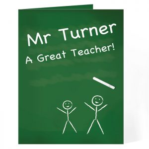 Personalised Thank You Teacher Card - Fun, Quirky and Special.