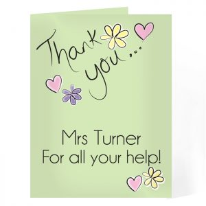 Thank You Card Personalised