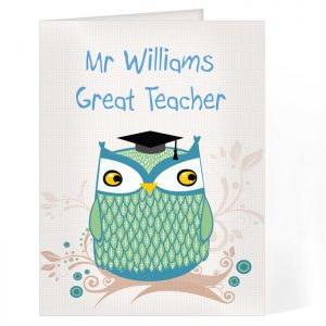 Personalised Cards - Mr Owl Thank you and Success Personalised Card