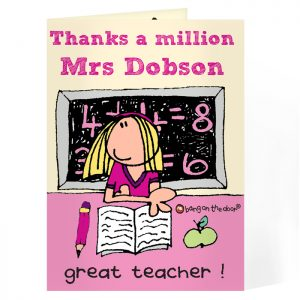 Personalised Card for Female Teachers - Teacher's Thank You Card