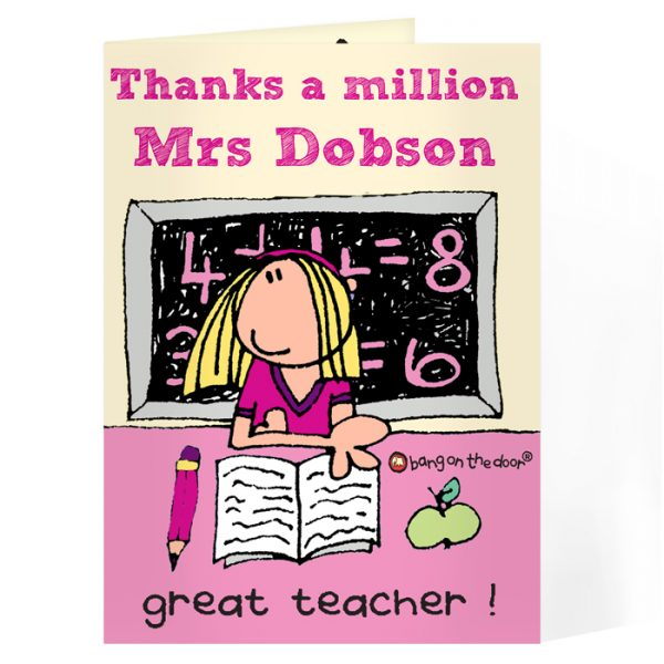 Personalised Card for Female Teachers – Teacher's Thank You Card