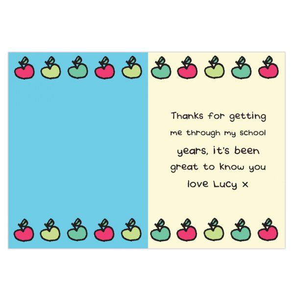 Interior Personalised Thank You Card for Male Teachers
