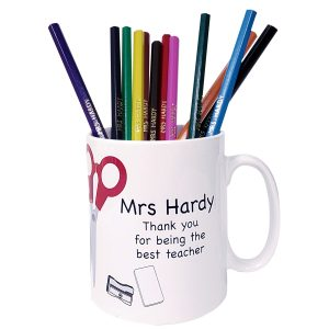 Personalized Gifts for Teachers - Cute Mug and Personalised Pencils Set