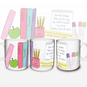 Thank You Gifts for Teachers - Female Teacher Personalised Mugs