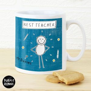 Personalised Teacher Mugs - Purple Ronnie Male Teacher Mug