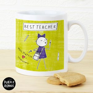Mugs For Teachers - Personalised Purple Ronnie Femaile Teacher