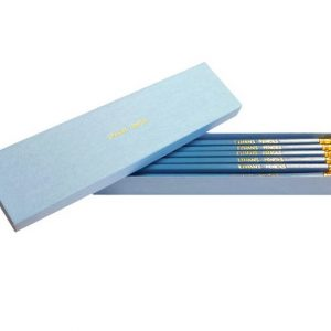 Personalised Pencils - 12 Aqua Pencils in a Personalised Box