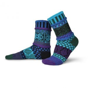 Solmate Socks for Adults - Blue Spruce