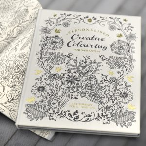 Personalised Adult Colouring Book - Creative Gift