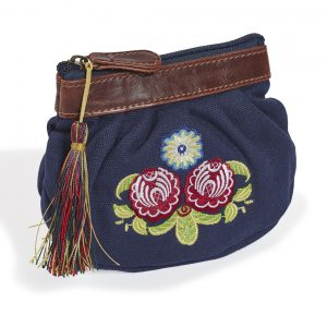 Quintessential Folk Purse - Deep Blue