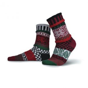 Adults Solmate Socks - Poinsettia