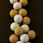 Cotton Ball Fairy Lights – Cable and Cotton Gold & Silver