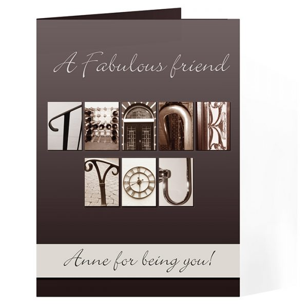 Personalised Thank You Cards – Affection Art Thank You Card Made Personal