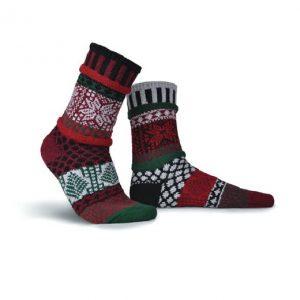 Poinsettia Solmate Socks for Adults