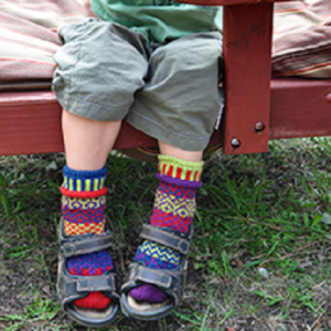 Dragonfly Kids Solmate Socks - Lifestyle