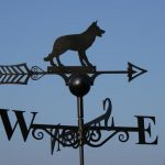 Dog Weathervane Hand Made by Poppy Forge