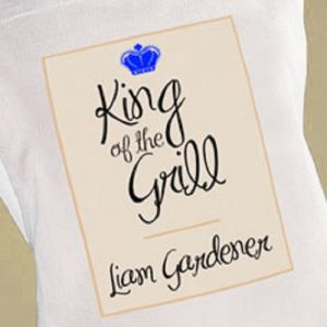 King Of The Grill Personalised Chefs Apron