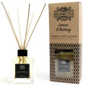 Lemon & Nutmeg Essential Oil Reed Diffuser