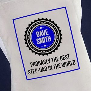 Probably the Best Step Dad Personalised Apron