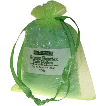 Relaxing Bathing Salts - Stress Buster Bath Salts with Pure Essential Oils