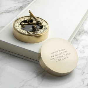 Working Compass - Personalised Brass Sundial and Compass