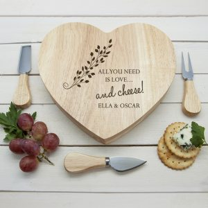 Engraved Cheese Board Set - Beautifully Personalised Wood