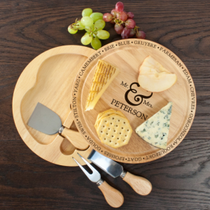 Cheese Board Gift - Personalised Set for Happy Couples