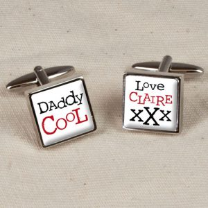 Daddy Cufflinks Engraved - Daddy Cool Personalised Cufflinks