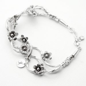 Personalised Silver Bracelet - Hand-Crafted Fine Silver Design