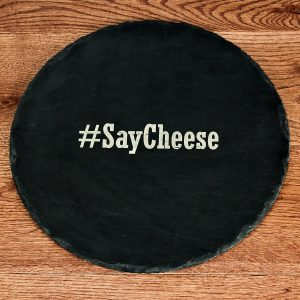 Personalised Slate Cheese Platter - Open Hashtag Quality Gift