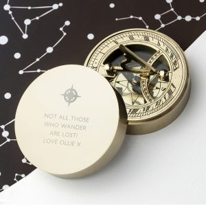 Navigation Compass - Personalised Brass Sundial and Compass