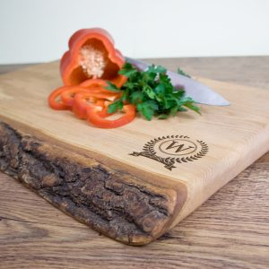 Large Wooden Chopping Board - Personalised Rustic Ash Handmade