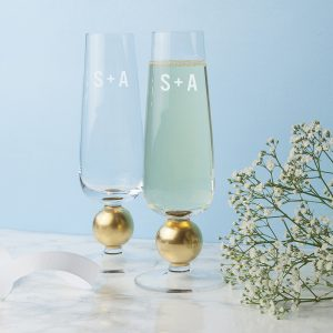 Personalised LSA Flutes - Luxurious Monogrammed Champagne Glasses