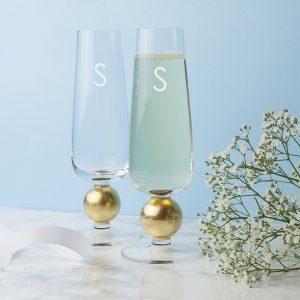 Engraved Champagne Glasses - Opulent LSA Champagne Glasses