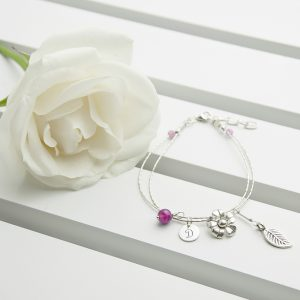 Personalised Friendship Bracelets - Hand-Made Silver & Indian Rubies
