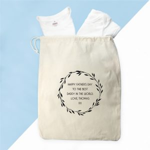 Personalised Bag with Daddy T Shirt and Baby Grow