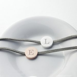 Couples initialled bracelets