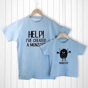 Fathers Day Ideas - Adorable Little Monster Dad & Me T-Shirts