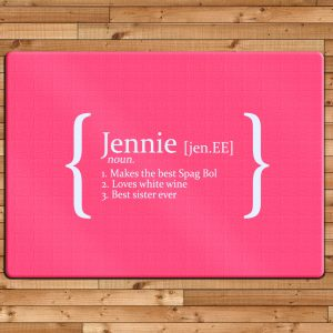 Personalised Glass Chopping Board - Name and Personal Qualities