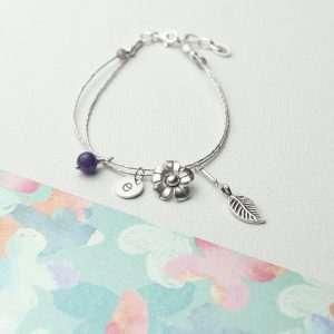 Personalised Forget Me Not Bracelet
