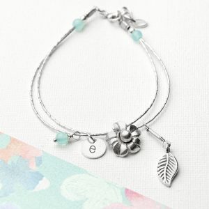 Hand-Made Silver Personalized Bracelet