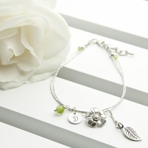 Silver Personalised Bracelet - Charms and Gemstones
