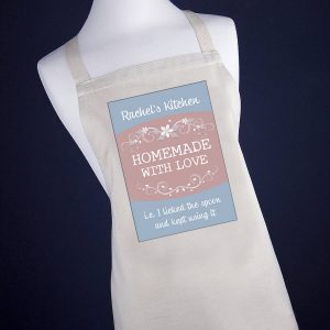Aprons for Women - Personalised Homemade with Love Comical Apron