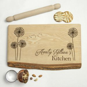 Personalised Wooden Chopping Board - Hand Engraved Solid Ash