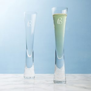 Personalised Champagne Glasses - Distinctive LSA Champagne Flutes