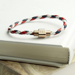 Colourful Mens Leather Bracelet