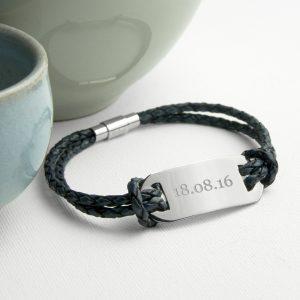 Leather Bracelet for Men - Personalised Bracelet for Him.