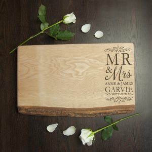 End Grain Chopping Board - Personalised Wedding Gifts