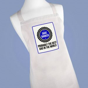 Best Dad in the World Apron - Personalised Just for Him
