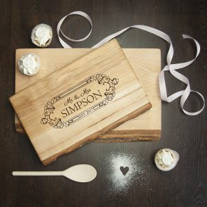 Personalised Chopping Board - Solid Welsh Ash - Wedding Gifts